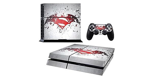 ADATECH VINILO compataible con Playstation 4 vinilo Batman y Superman pegatina para consola y dos mandos.: Amazon.es: Videojuegos