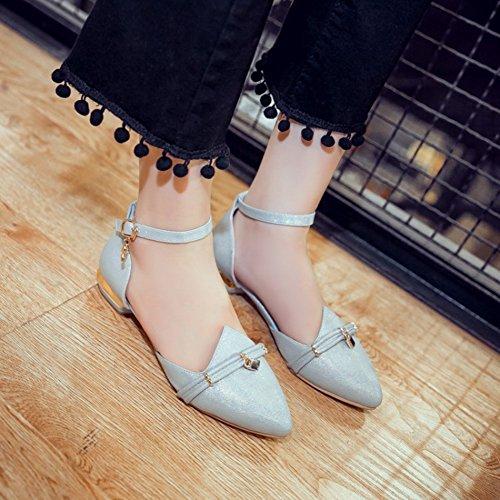 Sandali Con Cinturino Alla Caviglia Con Fibbia Alla Caviglia Dolce Donna Easemax. Sandali Con Tacco Basso A Punta Blu