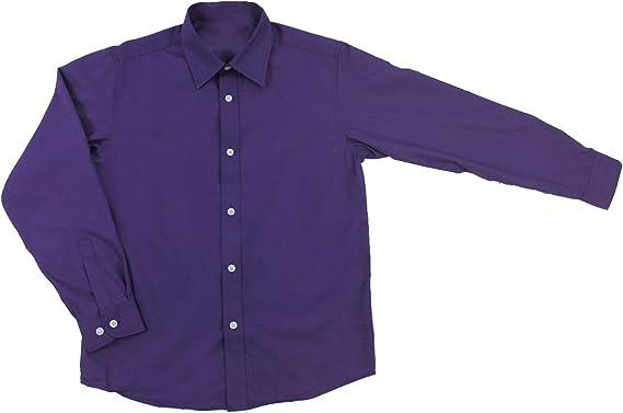Good Shirt TM Camisa para niños de 3 a 16 años. Camisas de Vestir para niños tamaños (12 años / 152 cm, Púrpura): Amazon.es: Ropa y accesorios
