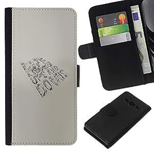 YiPhone /// Tirón de la caja Cartera de cuero con ranuras para tarjetas - Altibajos VIDA - Samsung Galaxy A3
