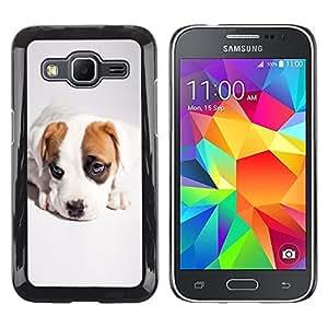 TopCaseStore / la caja del caucho duro de la cubierta de protección de la piel - Cute Cool Puppy Dog - Samsung Galaxy Core Prime SM-G360