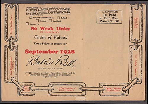 Bakers Supply Equipment Catalog 1928 racks pans uniforms tins displays +