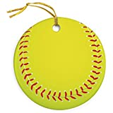 ChalkTalkSPORTS Softball Christmas Ornament | Softball Porcelain Ornaments