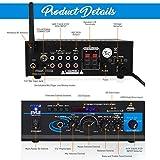 Home Audio Power Amplifier System - 2X40W Mini Dual