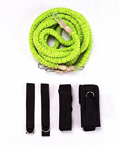 44SPORT Speed And Agility Training Equipment - Strength Bands And Bungie Cords - Running Resistance Harness Belts - Bungee Cord – Suitable For Baseball, Basketball, Football, Yoga, Soccer Training