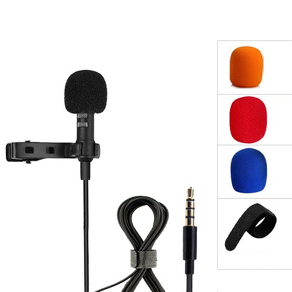 Lavalier Micrófono de solapa Micrófono Mini Micrófono para iPhone iPad iPod Samsung Android y Smartphones ILPjswu
