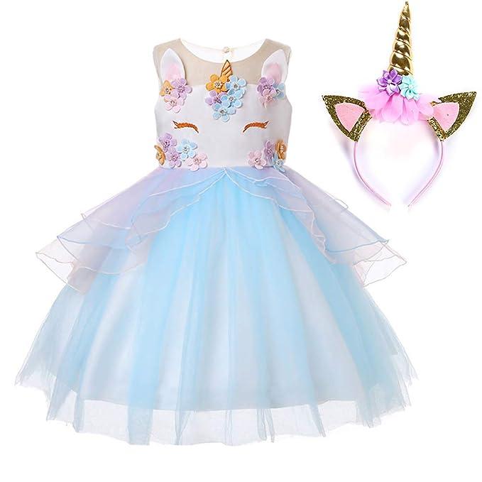 Amazon.com: Muababy - Disfraz de unicornio para bebé con ...