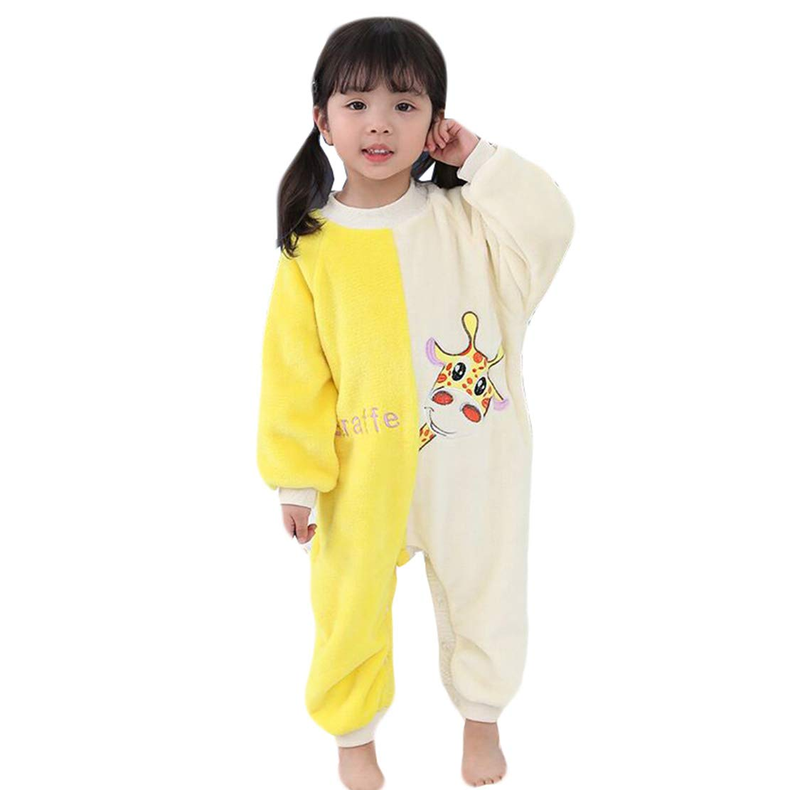 Pijama Entero de Mono Manga Larga Ropa de Dormir Franela Invierno Grueso y C/álido Impresi/ón Saco de Dormir Ni/ño Ni/ña 1-6 a/ños