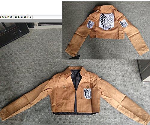 進撃の巨人ジャケット 調査兵団 布 165~175cm コスプレ衣装 道具