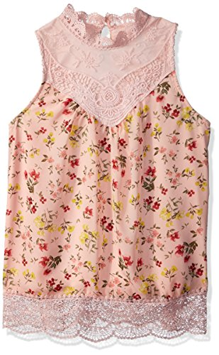 Beautees Girls' Big Sleeveless Victorian Top, Coral, Small