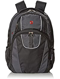 SA6689 Black with Gray Laptop Backpack - Fits Most 15 Inch Laptops and Tablets