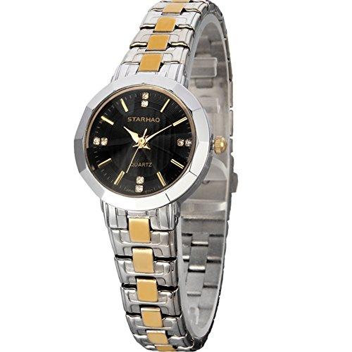 Stylish Woman Man Quartz Analog Wrist Watch Strip Dial Blue Band - 2