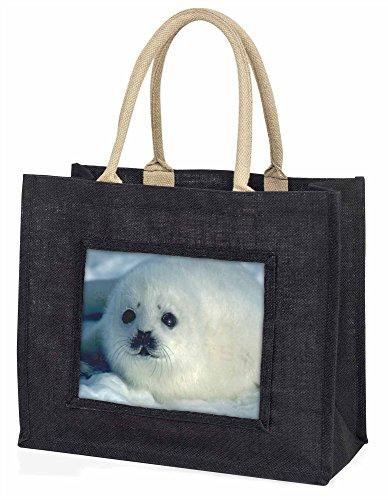 Advanta Snow White Sea Lion große Einkaufstasche/Weihnachtsgeschenk, Jute, schwarz, 42x 34,5x 2cm