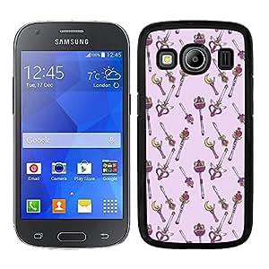 Funda carcasa para Samsung Galaxy Ace 4 diseño dibujo varitas borde negro