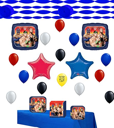 Wrestling Party Supplies and Balloon Decoration Kit Bundle by Combined Brands