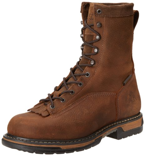 Clad Work Boot Eight Men's Rocky Iron Brown LTT Inch qwUvEBTx