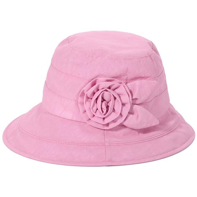 Gorra para Mujer, Cuenta Mujer Verano Caps De La Mamá del Sombrero De Las Personas De Edad En Edad Señoras Sombrero del Cubo Sombrero Viejo-A Ajustable: ...