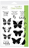 Gina K. Designs for Therm O Web 18078 Stampnfoil Clear Stamps Gina K. Designs, Butterfly Kisses