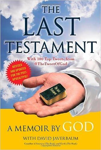 The Last Testament A Memoir God David Javerbaum 9781451640199