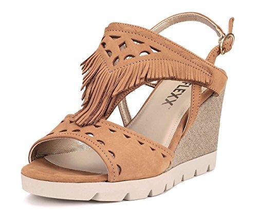 Marron Pow Compensée Flexx Semelle Sandale Wow Femme The q0x5gR