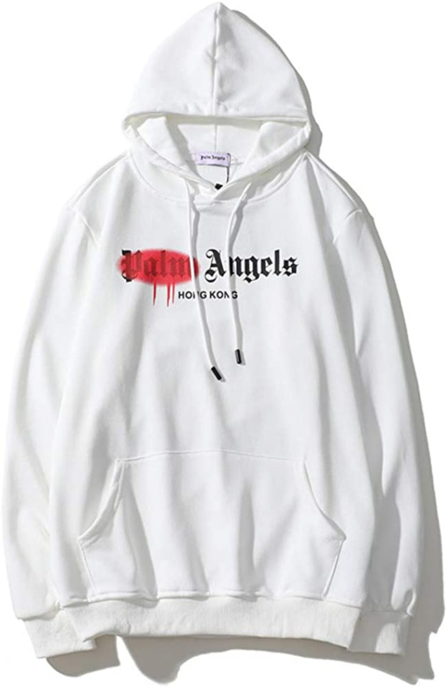 Keren PA Angel Classic Red Spray Paint Oversize Hoodie Sweater for Men And Women