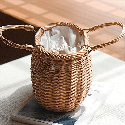 demi tissé paille bandoulière double sac bandoulière sac à Sac les main en yunt Sac bandoulière à en usage bambou fourre tout lune main pour à sac osier de voyage en femmes sac à la à 8A7wRnpqO
