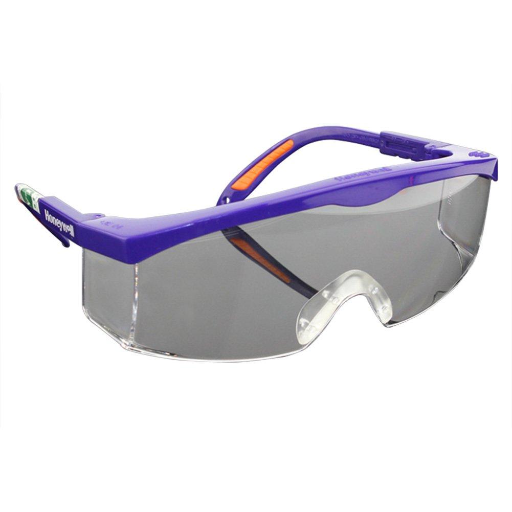 SimingD 透明ブラックポリカーボネートフレームとクリアインドア/アウトドアミラー(ブルー)付き安全メガネ   B07C3N31LC