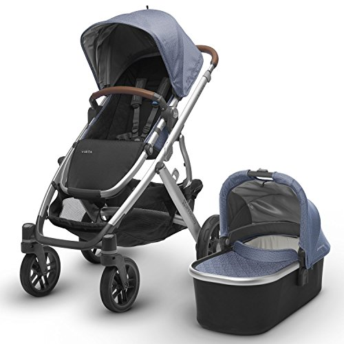 Baby Blue Leather Prams - 5