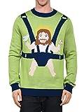 Tipsy Elves Men's Sweet Baby Jesus Christmas Sweater: Medium