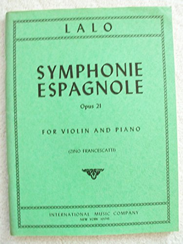 Symphonie Espagnole for Violin and Piano (Opus 21)