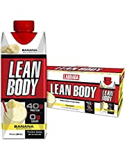 Lean Body Ready-to-Drink Banana Protein Shake, 40g Protein, Whey Blend, 0 Sugar, Gluten Free, 22 Vitamins & Minerals, (Recyclable Carton & Lid - Pack of 12) LABRADA