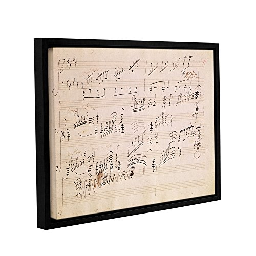 Sonata Music Moonlight Sheets (ArtWall Edgar Degas's Score Sheet of 'Moonlight Sonata' Gallery-Wrapped Floater-Framed Canvas, 36 x 48)