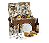 Picnic Plus Woodstock 4 Person Picnic Basket With Insulated Cooler