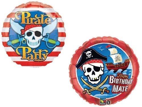 loonballoon Pirate Skull and Cross Bonesレッドストライプ出荷パーティー( 2 ) 18