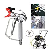 Jahyshow Airless Paint Spray Gun 3600PSI High Pressure with 517 Spray Tip & Guard Swivel Joint For Graco TItan Wagner Sprayers