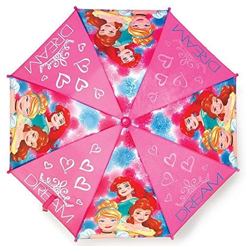 Disney Princess Girls Together We are Strong Umbrella - Heart Shaped Handle ()