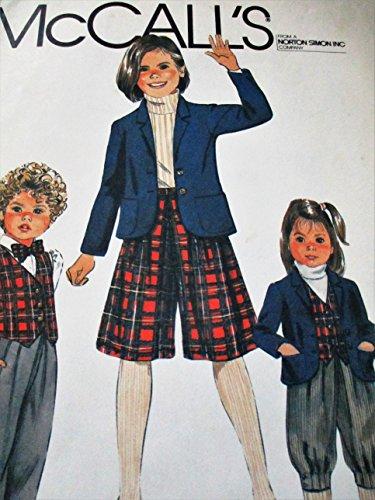 McCalls 8192 Children School Uniform Pattern Size 5
