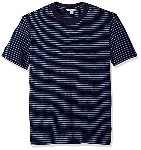 - Calvin Klein Jeans Men's Short Sleeve T-Shirt Crew Neck Stripe, True Indigo, M