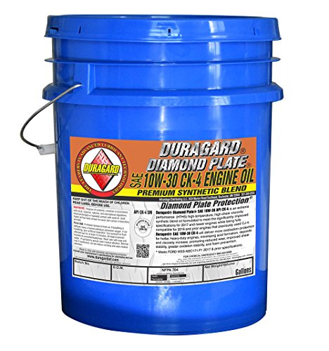 Duragard Diamond Plate Synthetic Blend CK4 10w30 Engine Oil - 5 Gallon Pail - Meets Ford WSS-M2C171-F1