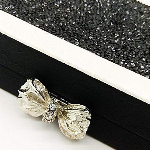 Da Nero a Season Di Matrimonio Evento festa Crystal Grigio All Per Unica A Argento Donna Detailing taglia Oro Borsa Borse Xy Pu Sera a56HHq