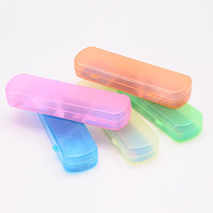 Amazon.com: OUNONA Toothbrush Case Holder Toothpaste Storage Box for Travel (Orange): Home & Kitchen