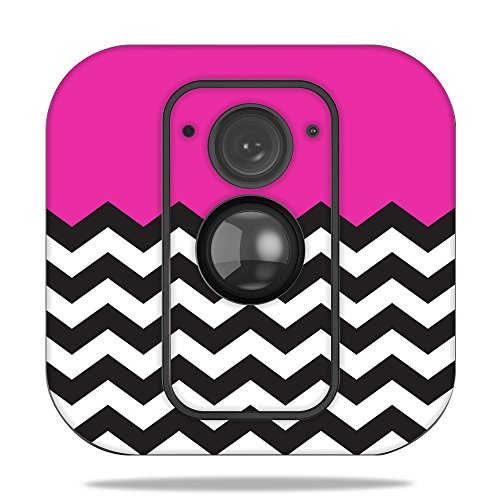 MightySkins Skin for Blink XT Outdoor Camera - Hot Pink Chevron | Protective, Durable, and Unique Vinyl Decal wrap Cover | Easy to Apply, Remove, and Change Styles | Made in The USA