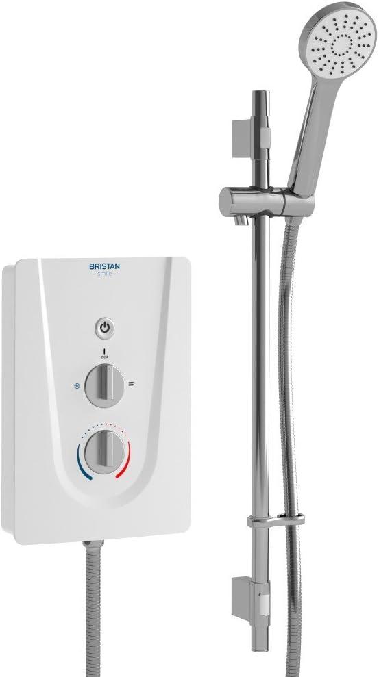Bristan SM395 W 9.5 kW Smile 3 Electric Shower - White