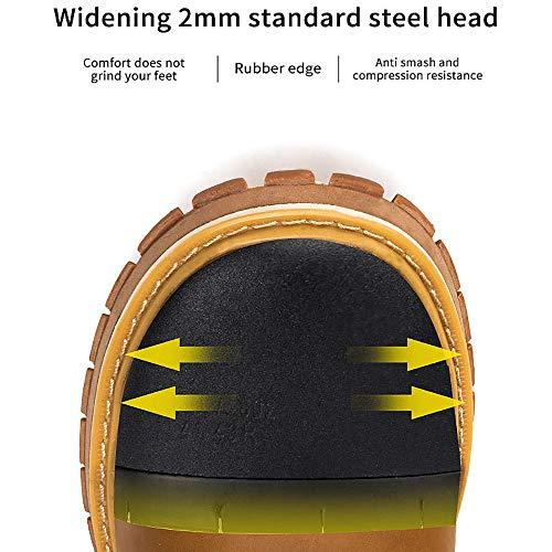 LNLN Zapatos De Seguridad Transpirables De Cuero para Hombres ...