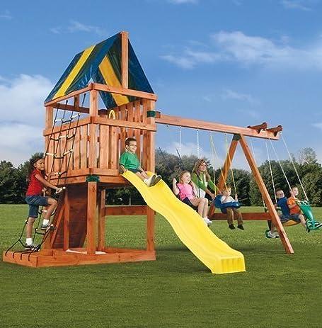 alpine custom swing set kit lumber and slide not included
