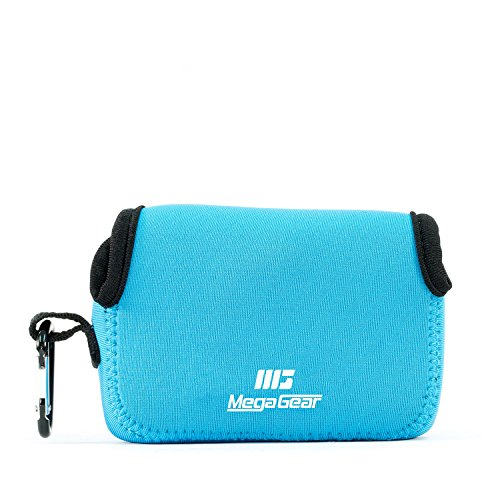 MegaGear Fujifilm FinePix XP130, XP120, XP90 Ultra Light Neoprene Camera Case, with Carabiner - Blue - MG806