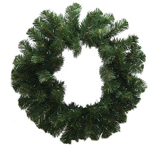 Tremont Floral Artificial 24 Inch Canadian Pine Wreath - Perfect for Fall Winter Christmas