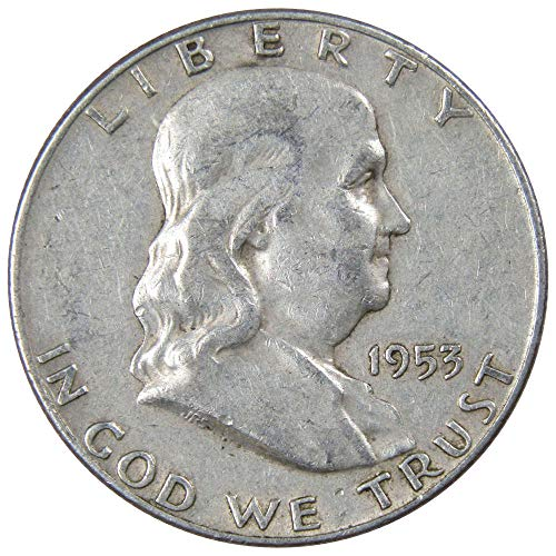 1953 D Franklin Silver Half Dollar VF-Very Fine