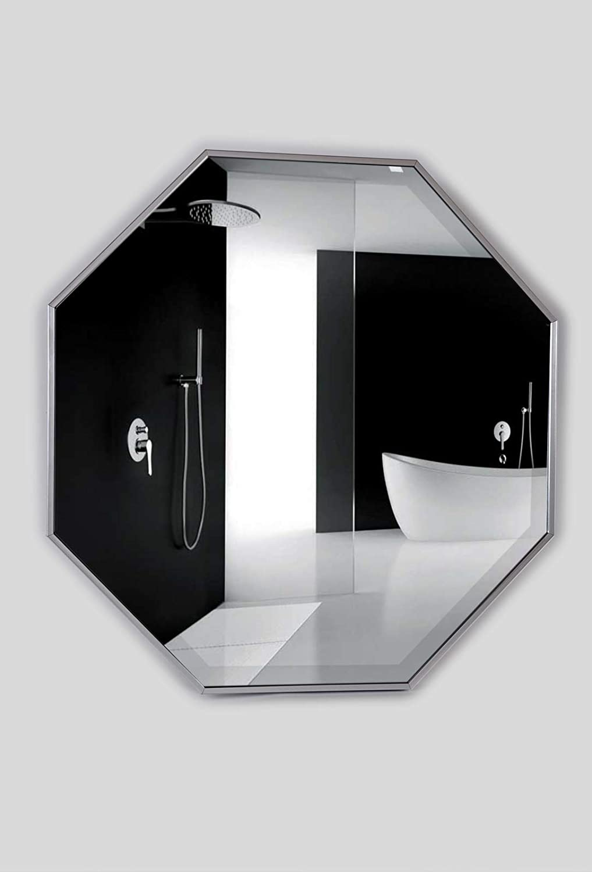 Alpine Art /& Mirror Octagon Wall Mirror Silver