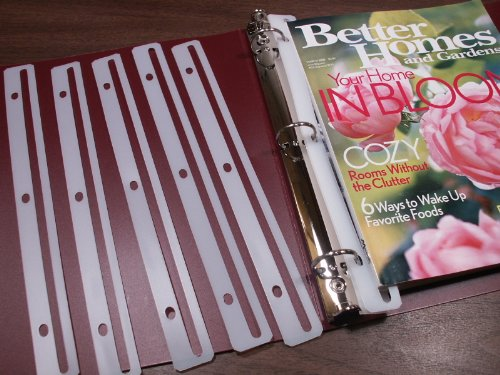 Magazine Holders/Protectors for 3-Ring Binders, 12 total